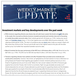 Read our Weekly Market Update